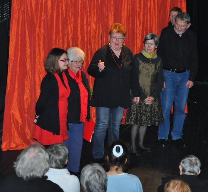 Coralie, Anne, Anne-Marie, Monique, Yann-Fañch au City 2 février 2014